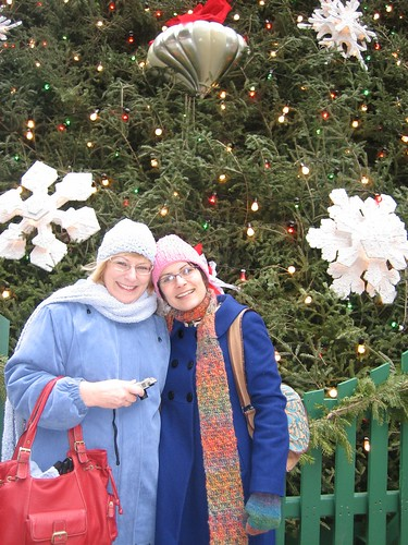 071224. me and mom, the cold, and a tree.
