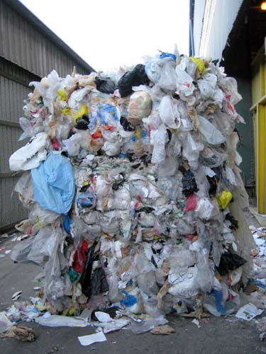 Plastic Bag Bail at Allied Waste