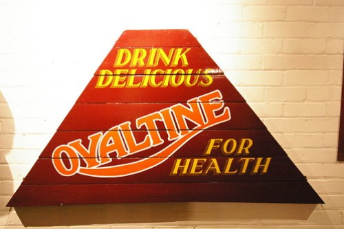 Ovaltine narrow boat sign writing