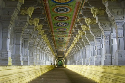Corridor of Ramnathswamy Temple, Rameshwaram (the largest in the world)