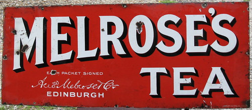 Melrose's Tea - enamel advertising sign, c1910