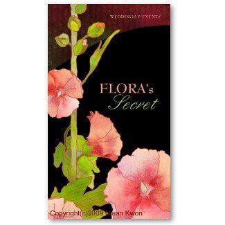 Hollyhocks Florists Business Cards