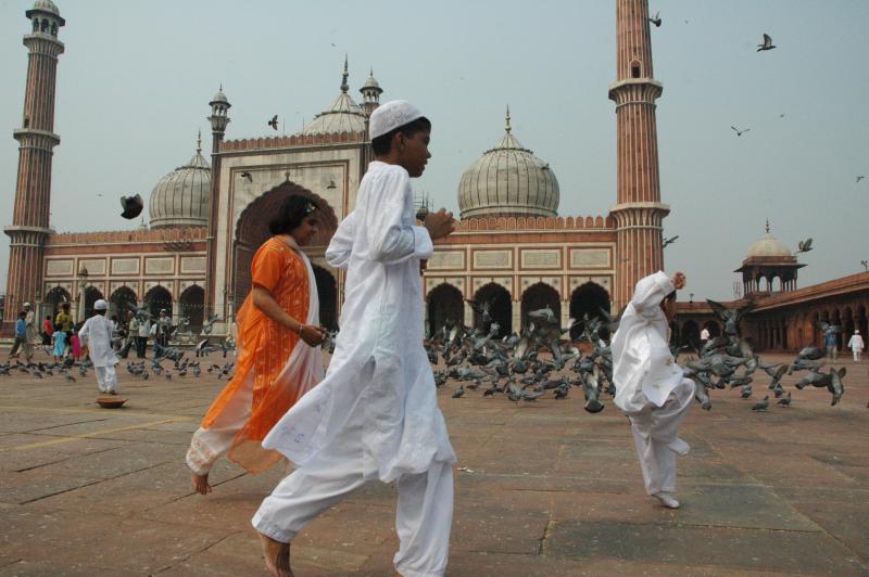Frolicking - Eid, Jama Masjid, Delhi, India