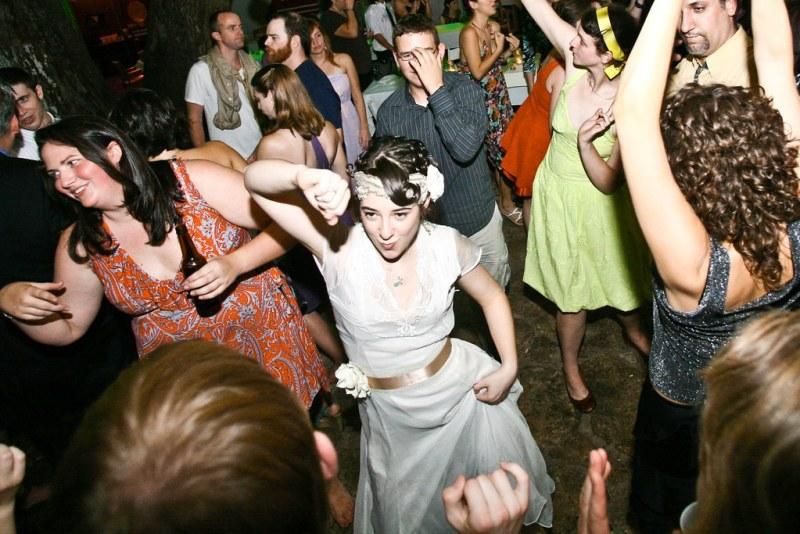 Dancing Guests and Bride