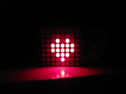 attiny2313 8x8 led-matrix
