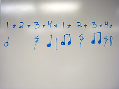 rhythm on a whiteboard