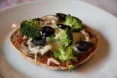 Healthy recipes, healthy mini pizza