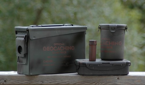 Assorted Geocaching Containers
