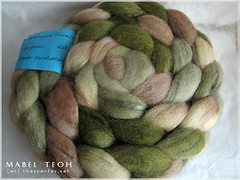 70/30 Shetland/Silk in Eucalyptus from Warratah Fibrecrafts, 104gms, USD14 plus actual shipping