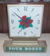 FOUR ROSES ELECTRIC CLOCK