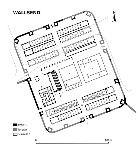Plan of Wallsend fort