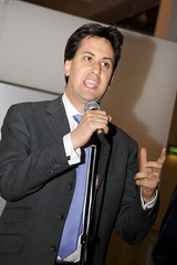 Ed Miliband on the mic
