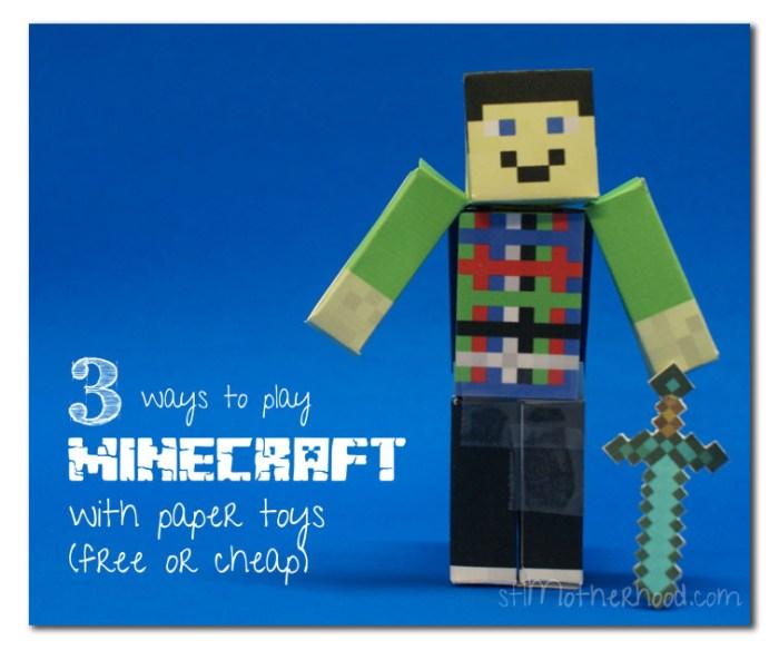Minecraft paper toy Steve
