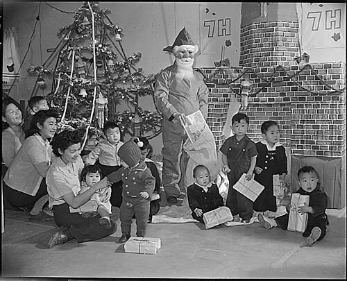 Granada Relocation Center, Amache, Colorado. Chief Steward Matsumoto of Block 7-H at the Granada Relocation Center . . ., 12/24/1943