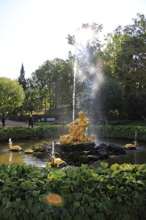 The Triton Fountain at Peterhof