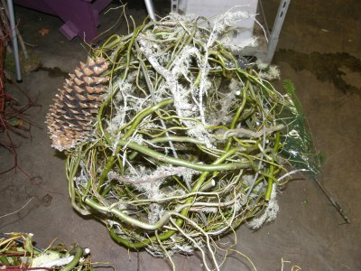Globe, Curly Willow, Decorated
