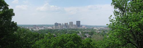 Panoramic view of Downtown Dayton from the Lookout Point