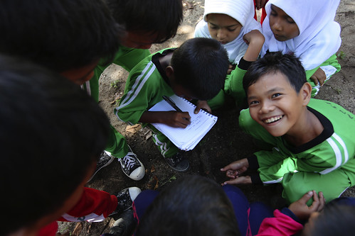 School children in the Ulu Masen forest, Aceh, Indonesia