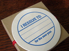 New Year's Resolution Coasters by Lucky Bee Press