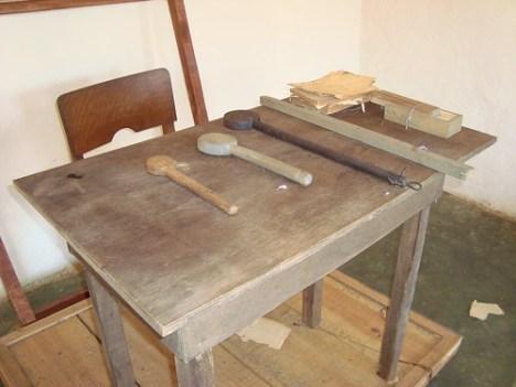mesa do professor