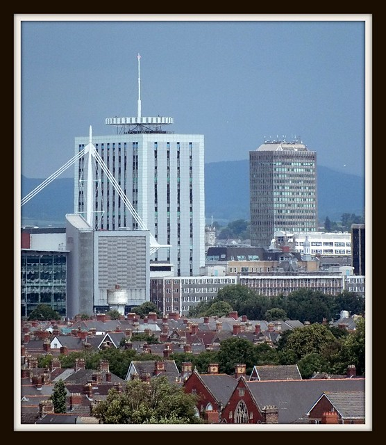 View of Cardiff City Centre