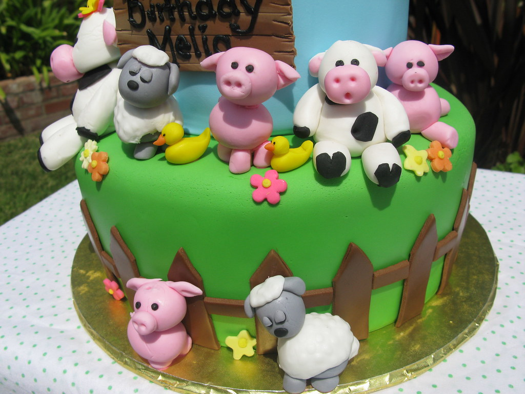 Farm Animal Cakes First Birthday Farm Animal Cake