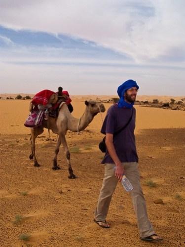 JC als Kamelführer