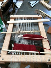 Loom with work in progress