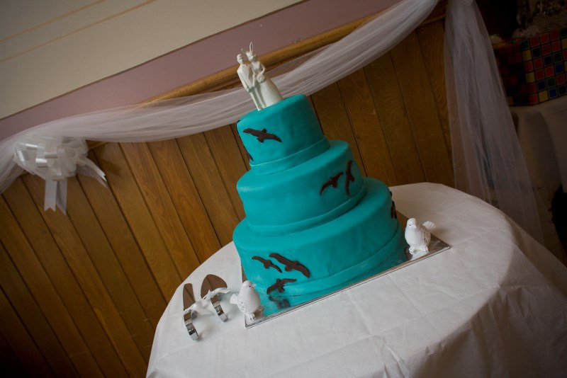 Check out the groom and bunny cake topper