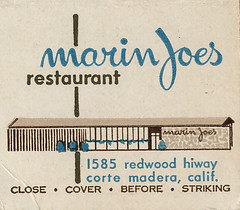 Joe's Matchcover Marin