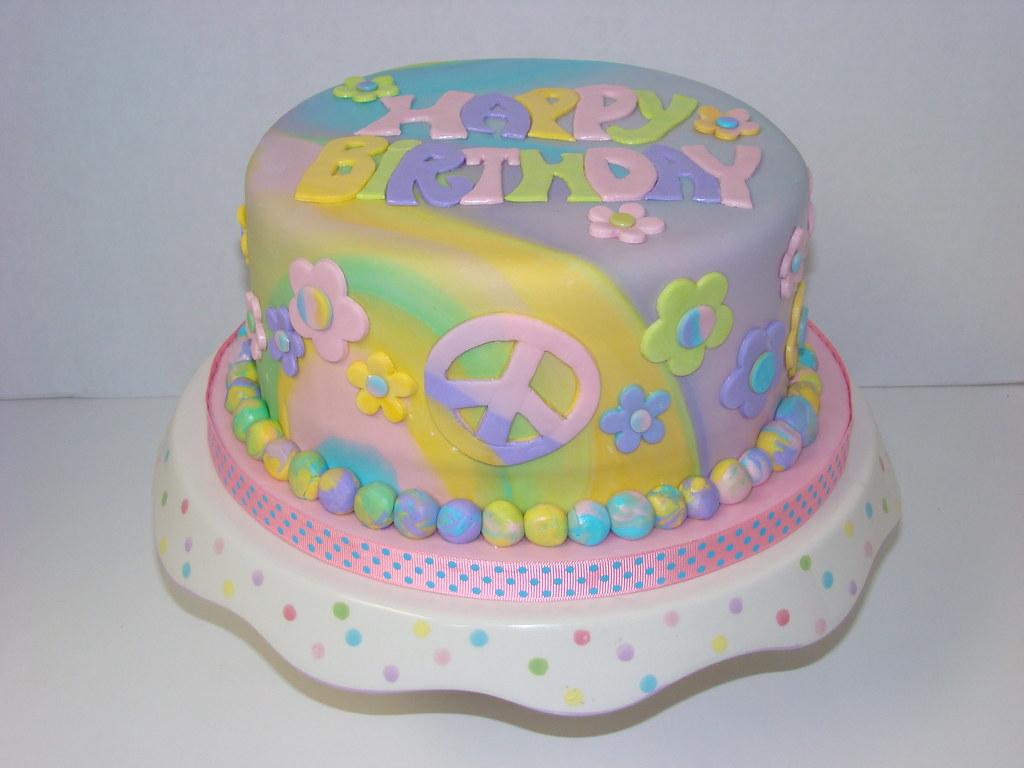Tie Dye Birthday Cake Flickr