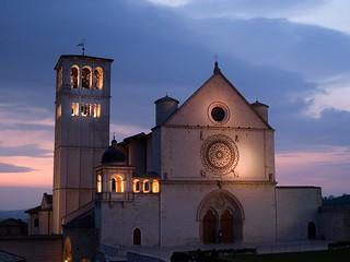 Assisi - sunset - Basilica di San Francesco