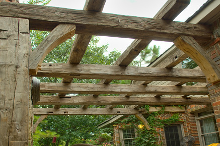 Pergola Antique Beams Overview Flickr Photo Sharing
