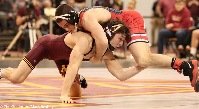 133 #1 Nathan Tomasello (Ohio State) fall #17 Mitch McKee (Minnesota) 2:53