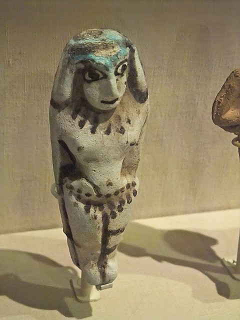 Female figurine Megiddo (Modern Israel) Stratum IX Late Bronze I (1550-1400 BCE) Faience