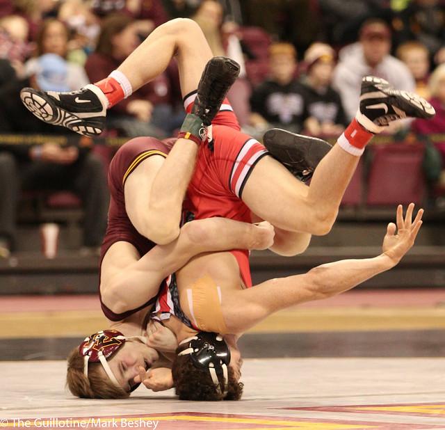 125 #18 Jose Rodriguez (Ohio State) dec. #6 Ethan Lizak (Minnesota) 12-10 sv1