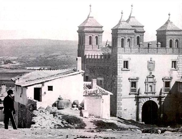 Puerta del Cambrón en el siglo XIX. Fotografía de Casiano Alguacil.