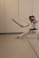 New York Shaolin Test Day - Rachelle with Broad Sword