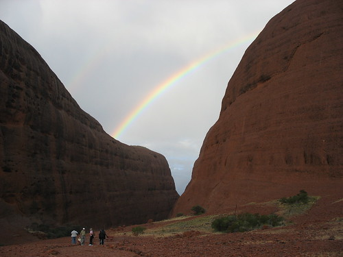 Rainbow over Kata Tjuta