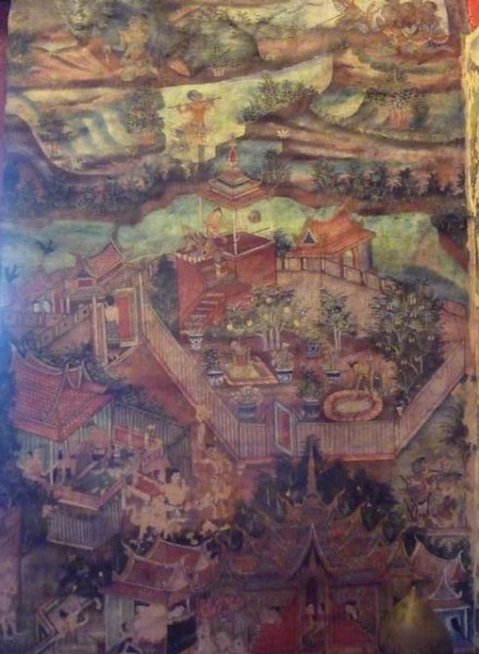 CHIANG MAI, THAILAND - Wat Phra Singh temple - Viharn Lai Kham prayer hall interior/ ЧИАНГМАЙ, ТАИЛАНД - храм Пхра-Сингх