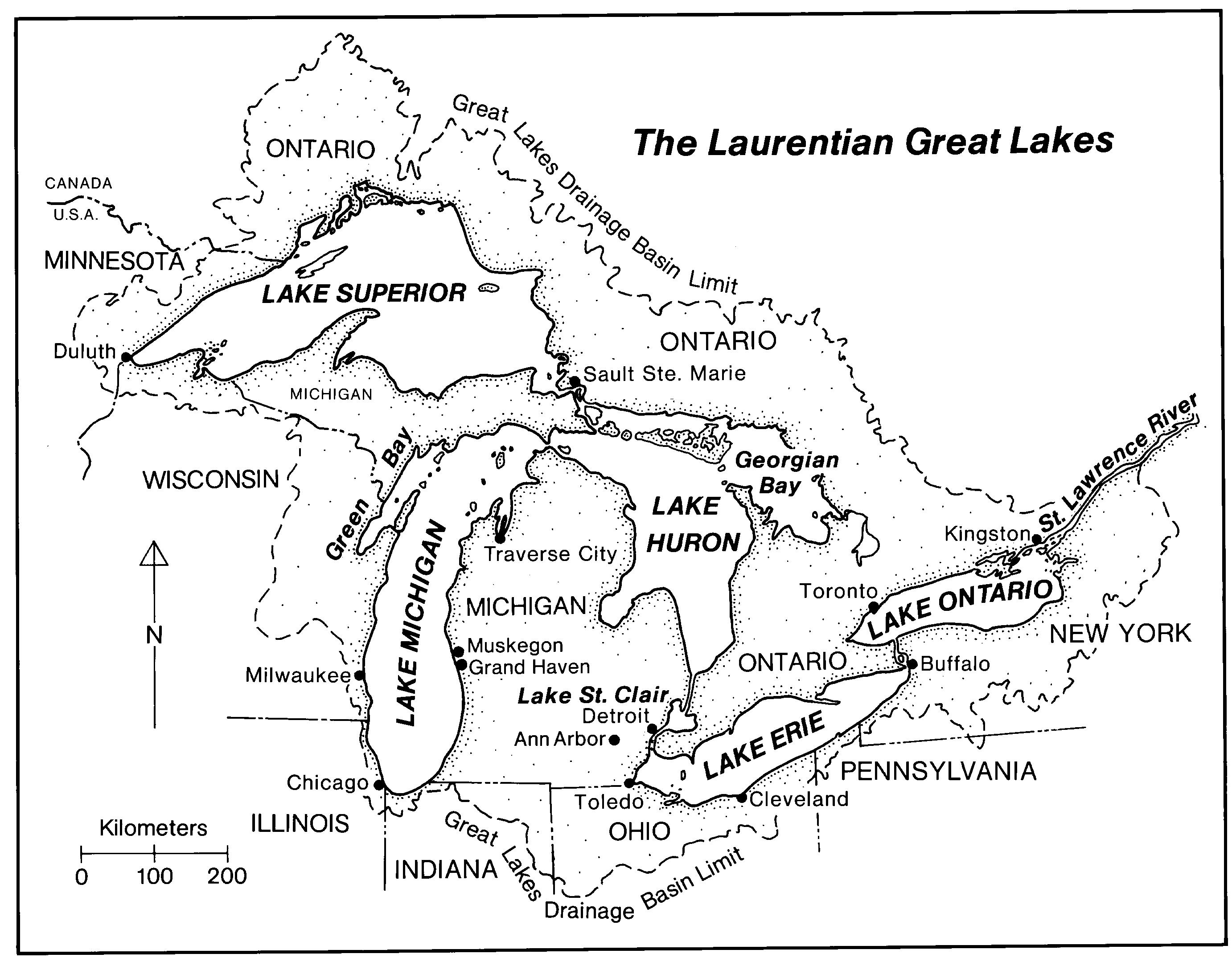 Great Lakes Coloring Pages Sketch Coloring Page