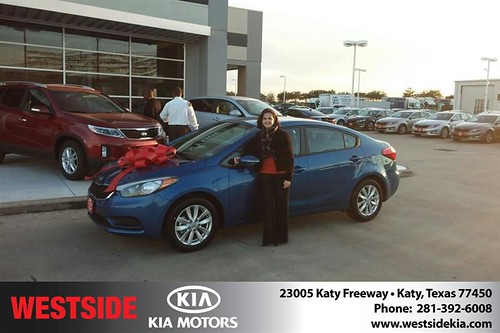Congratulations to Sylvia Crone on your #Kia #Forte purchase from Landry Boris  at Westside Kia! #NewCar by Westside KIA