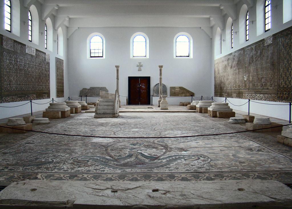 Museo de Sabratha mosaico Basilica Justiniano Libia 49