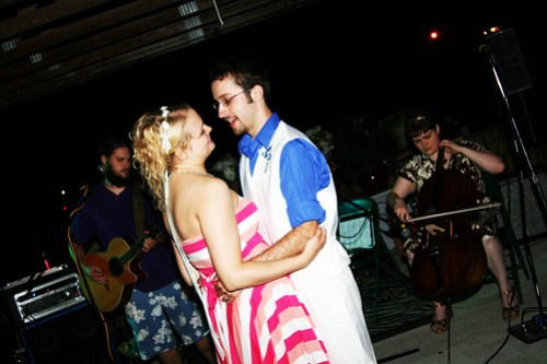 Our impromptu first dance.