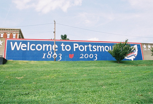 77-foot floodwall at Portsmouth, Ohio