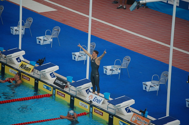 Daniel Gyurta after his 200 breaststroke win in Rome 2009