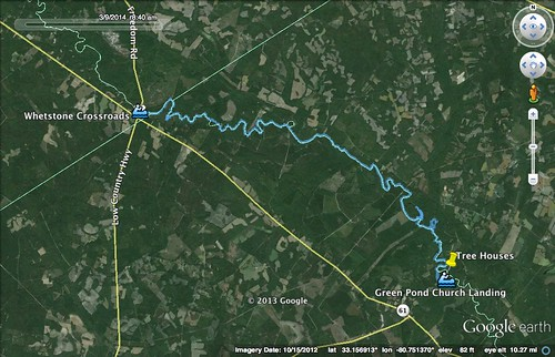 GPS Track Whetstone to Green Pond