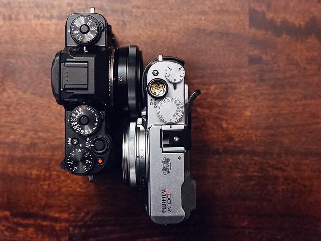 Fuji X-T1 vs Fuji X100S