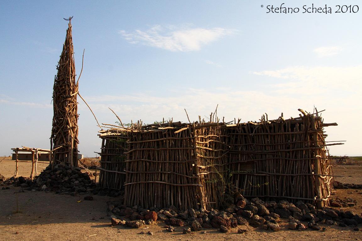 Rustic mosque - Danakil, Ethiopia