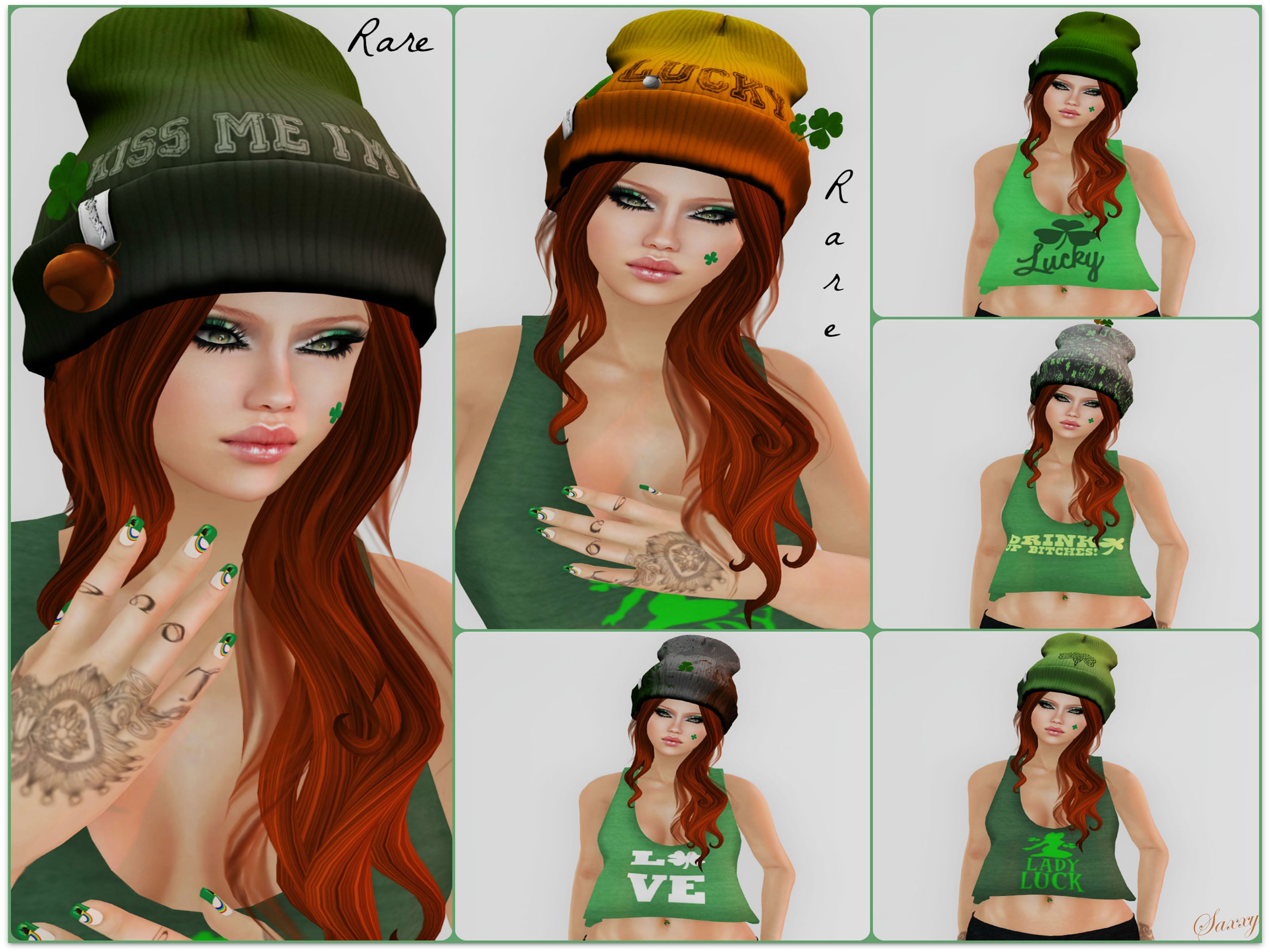 Irish Beanie Collage